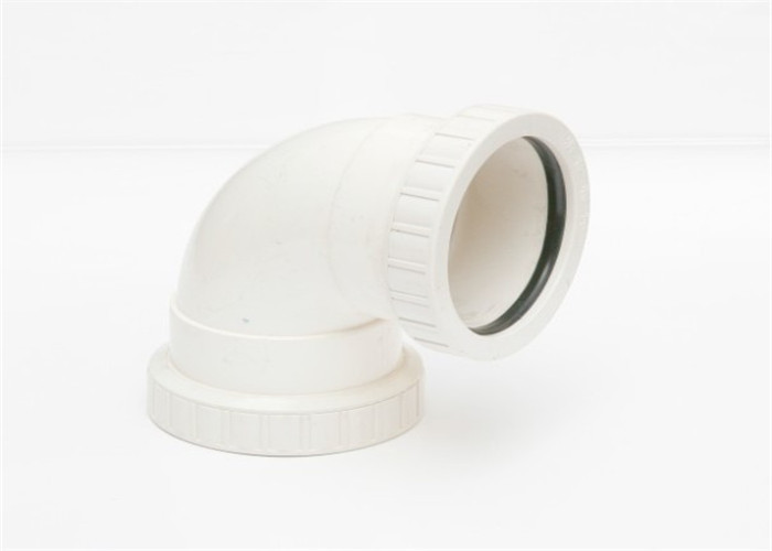 50 - 200mm U PVC 90° Elbow 2.5mm Thickness Non - Toxic Socket Connection
